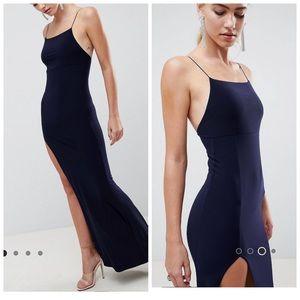 ASOS DESIGN Slinky Maxi dress -Navy